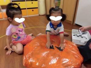 かぼちゃおばけ作り